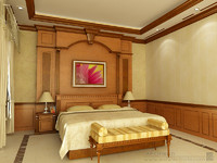 CLASSIC BEDROOM INTERIOR SCENE